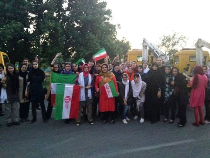 تجمع زنان 25 خرداد/ ورزشگاه آزادی