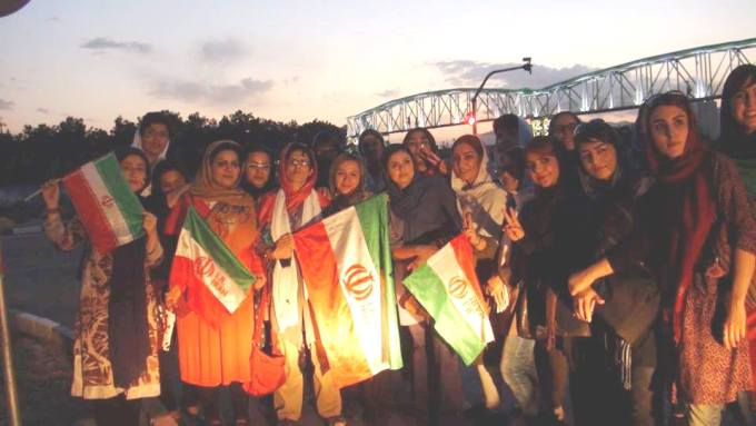 تجمع زنان ورزشگاه آزادی